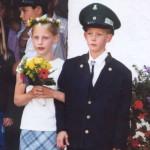 Kinderkönigspaar 2001 Julian Nies und Sandra Ohm