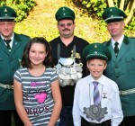 Kinderkönigspaar 2012 Fabian Jaitner und Riccarda Schulte-Brinker