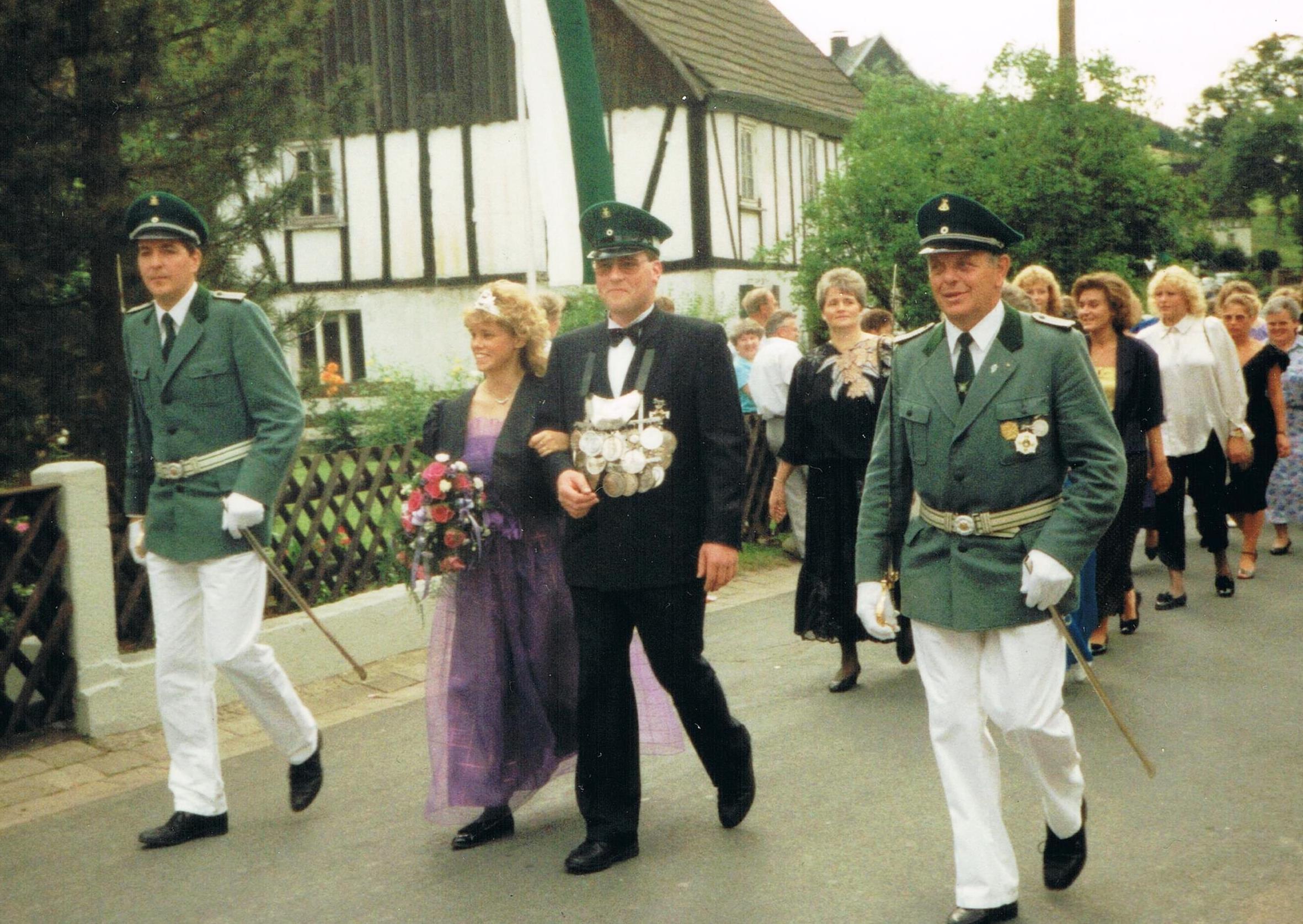 1989_Reiner_Stuff+Jutta_Kleine-25jährigesKönigspaar